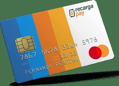 Cartão internacional pré-pago com Recargapay