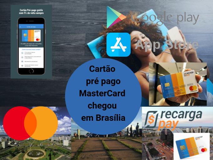 Cartão pré pago MasterCard em Brasília