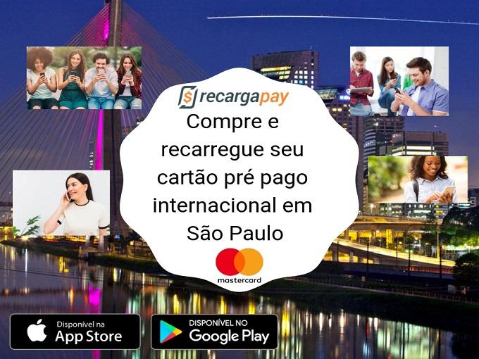 Compre e recarregue seu cartão pré pago internacional em São Paulo
