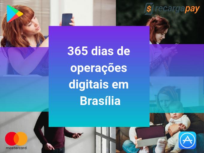 Com o seu cartão pré-pago RecargaPay tem 365 dias de operações digitais em Brasília