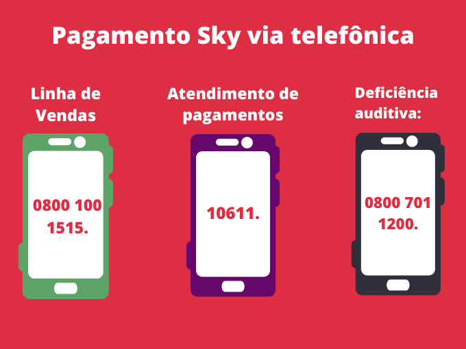 Pagamento Sky via telefônica
