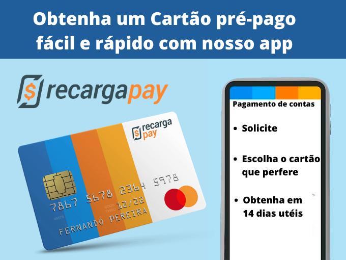 Obtenha um Cartão pré-pago fácil e rápido com nosso app
