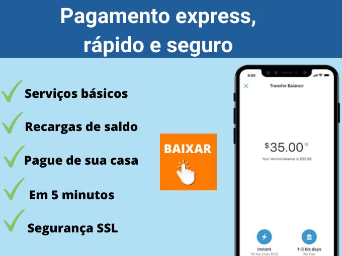 Pagamento express, rápido e seguro