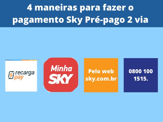 4 maneiras para fazer o pagamento Sky Pré-pago 2 via